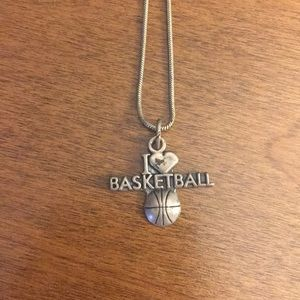 Other - I ❤️ basketball necklace